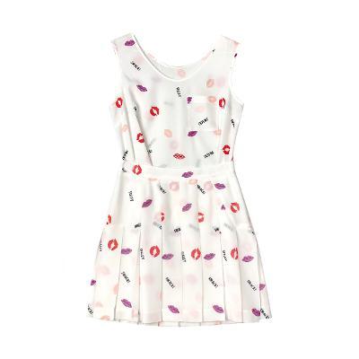 lips sleeveless blouse & lips tennis skirt